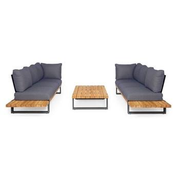 Zestaw sof na taras NARDO III antracyt