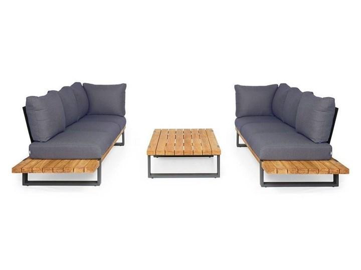 Zestaw sof na taras NARDO III antracyt Aluminium Kategoria Zestawy mebli ogrodowych Drewno Kolor Czarny