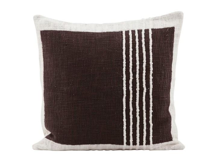 House Doctor - Poszewka na poduszkę Yarn Brown Poszewka dekoracyjna Aksamit Kolor Brązowy Len Kwadratowe 50x50 cm Bawełna Kategoria Poduszki i poszewki dekoracyjne