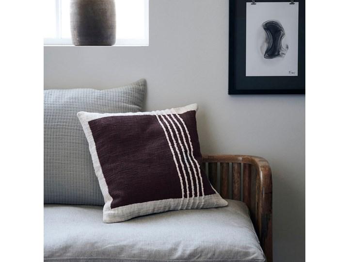 House Doctor - Poszewka na poduszkę Yarn Brown Kolor Brązowy Poszewka dekoracyjna 50x50 cm Bawełna Kwadratowe Len Aksamit Kategoria Poduszki i poszewki dekoracyjne