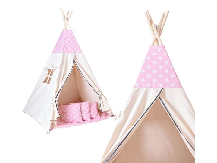 Namiot Tipi dla dzieci różowy w gwiazdki