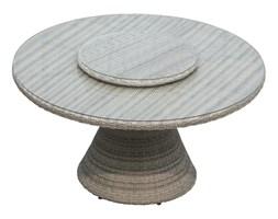 Stół obiadowy ogrodowy z tacą obrotową śr 142 cm.