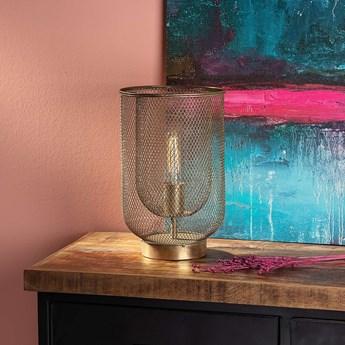 Lampa stołowa Campos 35cm gold, ⌀22 x 35 cm