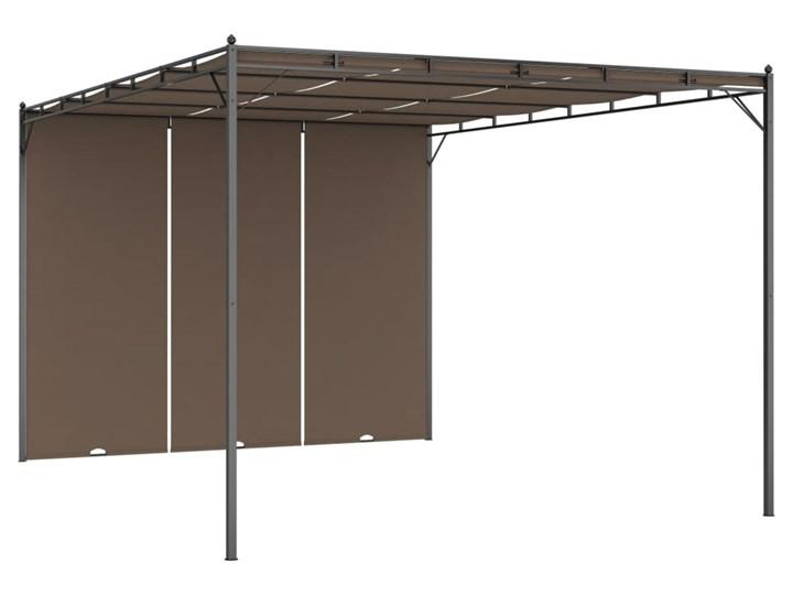 vidaXL Altana ogrodowa z zasłoną, 4 x 3 x 2,25 m, kolor taupe Długość 4 m Kategoria Altany ogrodowe Szerokość 3 m Wysokość 225 cm Kolor Brązowy
