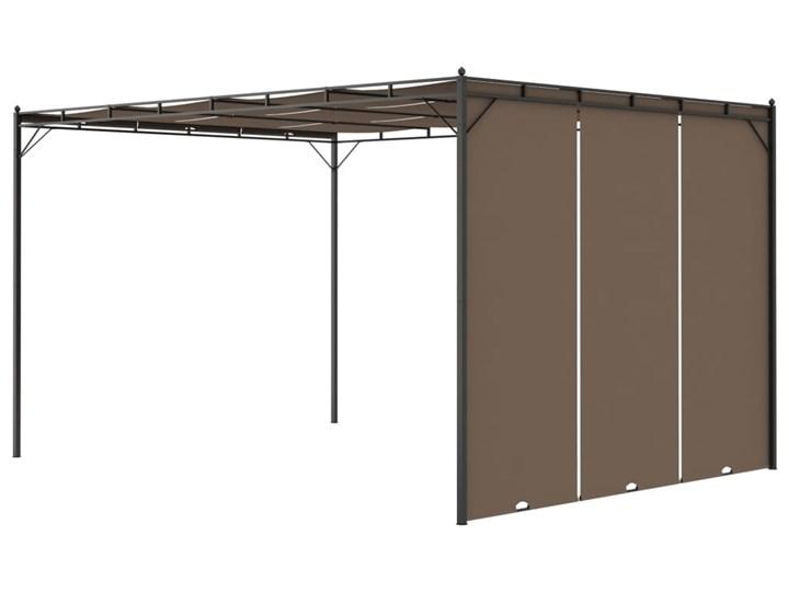 vidaXL Altana ogrodowa z zasłoną, 4 x 3 x 2,25 m, kolor taupe Szerokość 3 m Długość 4 m Kategoria Altany ogrodowe Wysokość 225 cm Kolor Brązowy