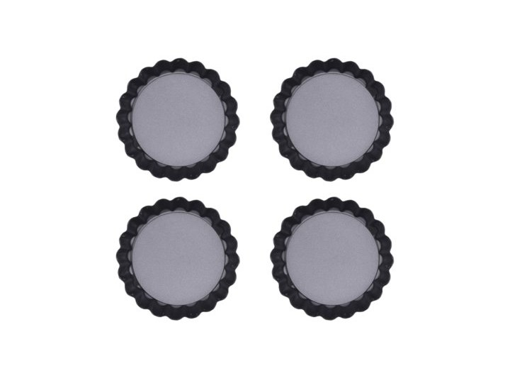 Zestaw mini form do tarty DUKA GOTA BAKE 4 sztuki stal węglowa Kategoria Formy i foremki Kolor Czarny