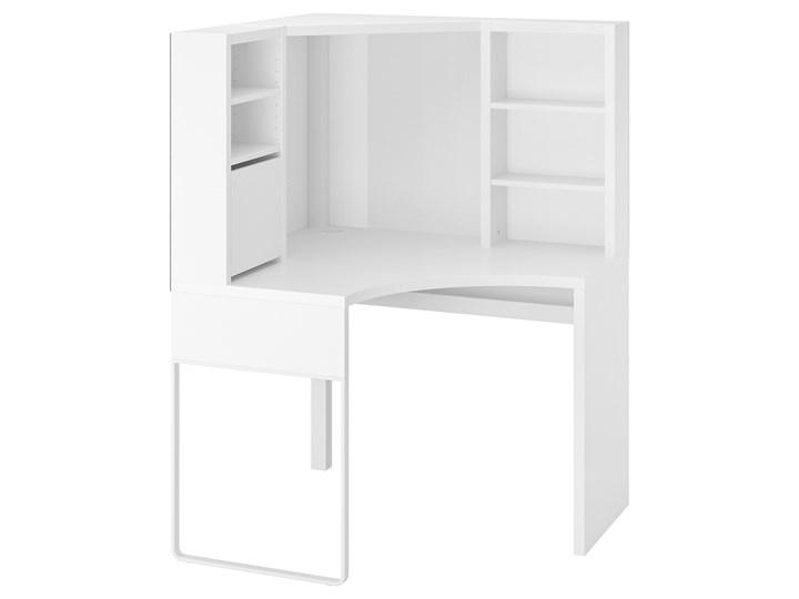 IKEA MICKE Biurko narożne, Biały, 100x142 cm