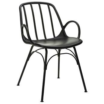 Designerskie krzesło z czarnego polipropylenu Casteria
