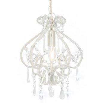 Biała lampa sufitowa z koralikami - EX168-Belisa