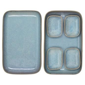 Zestaw do sushi dla 2 osób DUKA THORA 6 elementów niebieski kamionka