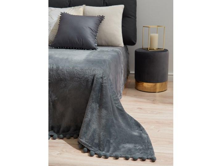 Sinsay - Koc z pomponami 130x160 - Szary 130x160 cm Kategoria Koce i pledy