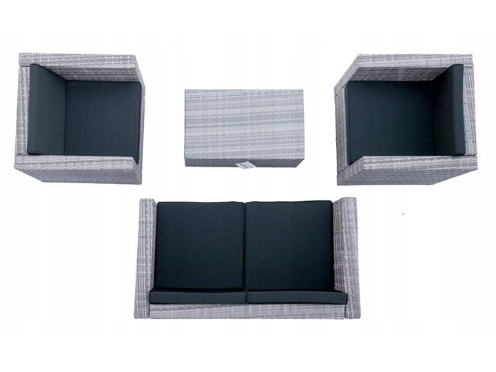 4-częściowy zestaw mebli rattanowych z wygodnymi poduszkami Stoły z krzesłami Technorattan Tworzywo sztuczne Kolor Czarny Liczba miejsc Czteroosobowy
