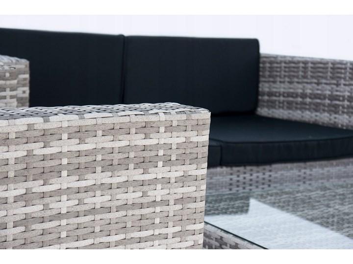 4-częściowy zestaw mebli rattanowych z wygodnymi poduszkami Technorattan Stoły z krzesłami Liczba miejsc Czteroosobowy Tworzywo sztuczne Kategoria Zestawy mebli ogrodowych