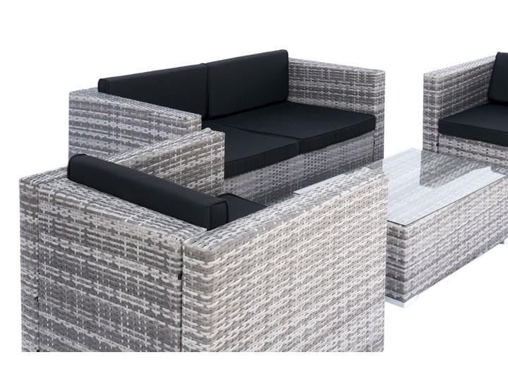 4-częściowy zestaw mebli rattanowych z wygodnymi poduszkami Stoły z krzesłami Kolor Czarny Tworzywo sztuczne Technorattan Kategoria Zestawy mebli ogrodowych