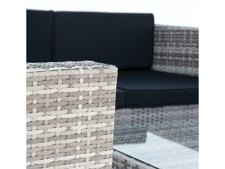 4-częściowy zestaw mebli rattanowych z wygodnymi poduszkami Stoły z krzesłami Tworzywo sztuczne Technorattan Kategoria Zestawy mebli ogrodowych