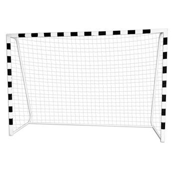 Bramka piłkarska PRO 300 x 200 cm biało-czarna