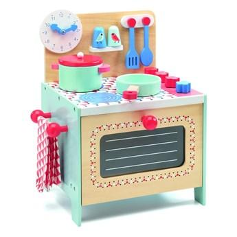 Zestaw dziecięcej drewnianej kuchni z akcesoriami Djeco Kitchen