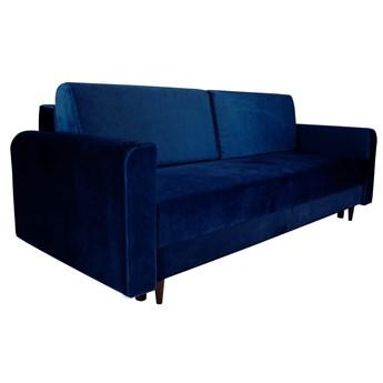 Nowoczesna sofa z funkcją spania ELIZA w kolorze ciemnoniebieskim
