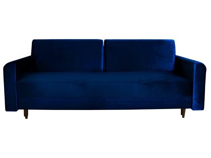 Nowoczesna sofa z funkcją spania ELIZA w kolorze ciemnoniebieskim Szerokość 225 cm Styl Nowoczesny Głębokość 97 cm Głębokość 55 cm Typ Gładkie