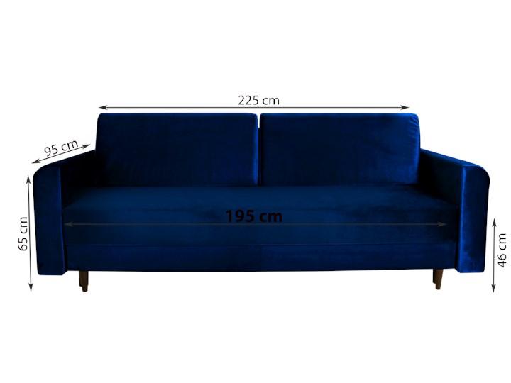 Nowoczesna sofa z funkcją spania ELIZA w kolorze ciemnoniebieskim Szerokość 225 cm Głębokość 55 cm Głębokość 97 cm Rozkładanie Rozkładana