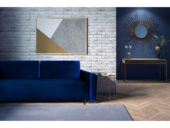 Nowoczesna sofa z funkcją spania ELIZA w kolorze ciemnoniebieskim Głębokość 55 cm Głębokość 97 cm Szerokość 225 cm Materiał obicia Tkanina Kategoria Sofy i kanapy