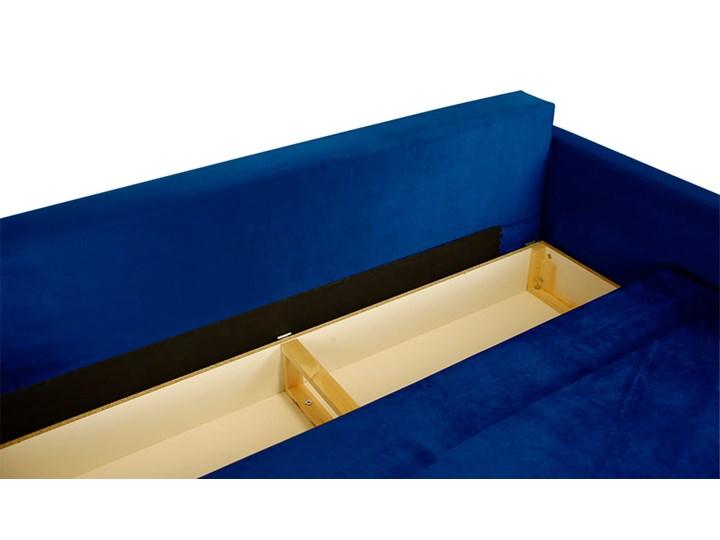 Nowoczesna sofa z funkcją spania ELIZA w kolorze ciemnoniebieskim Rozkładanie Rozkładana Szerokość 225 cm Głębokość 55 cm Głębokość 97 cm Kolor Granatowy