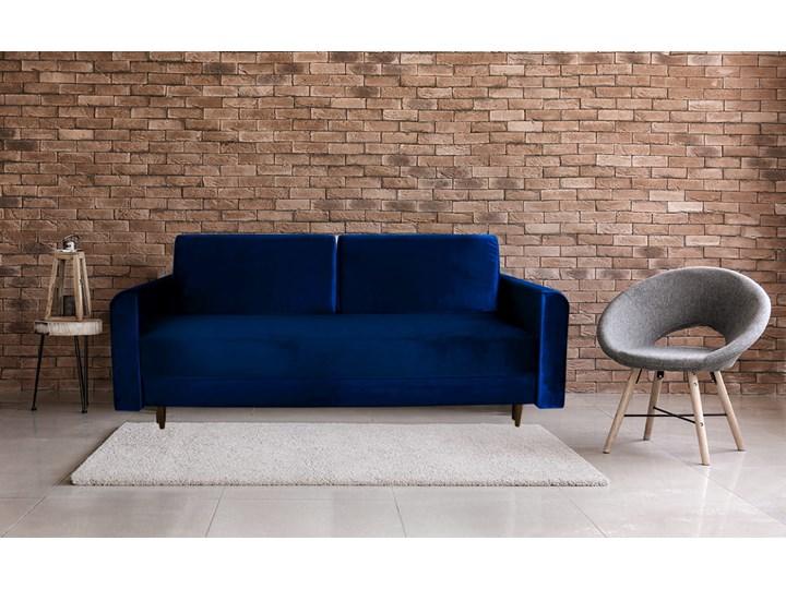 Nowoczesna sofa z funkcją spania ELIZA w kolorze ciemnoniebieskim Głębokość 55 cm Głębokość 97 cm Szerokość 225 cm Nóżki Na nóżkach Kategoria Sofy i kanapy