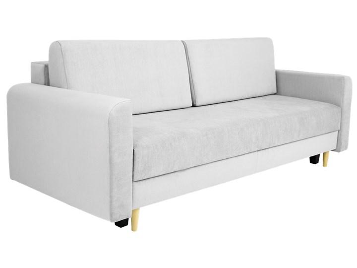 Nowoczesna sofa z funkcją spania ELIZA w kolorze szarym Szerokość 225 cm Głębokość 97 cm Głębokość 55 cm Styl Nowoczesny Materiał obicia Tkanina