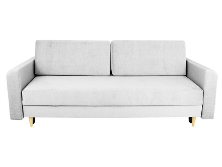 Nowoczesna sofa z funkcją spania ELIZA w kolorze szarym Szerokość 225 cm Głębokość 97 cm Głębokość 55 cm Materiał obicia Tkanina