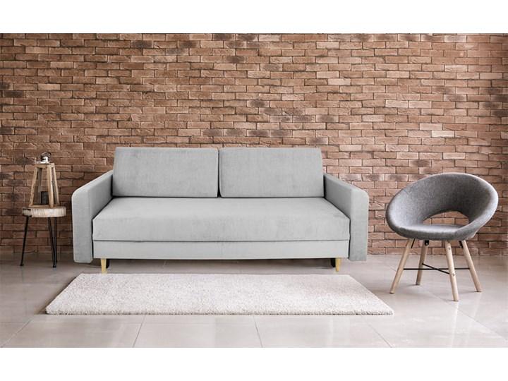 Nowoczesna sofa z funkcją spania ELIZA w kolorze szarym Głębokość 55 cm Szerokość 225 cm Głębokość 97 cm Styl Nowoczesny