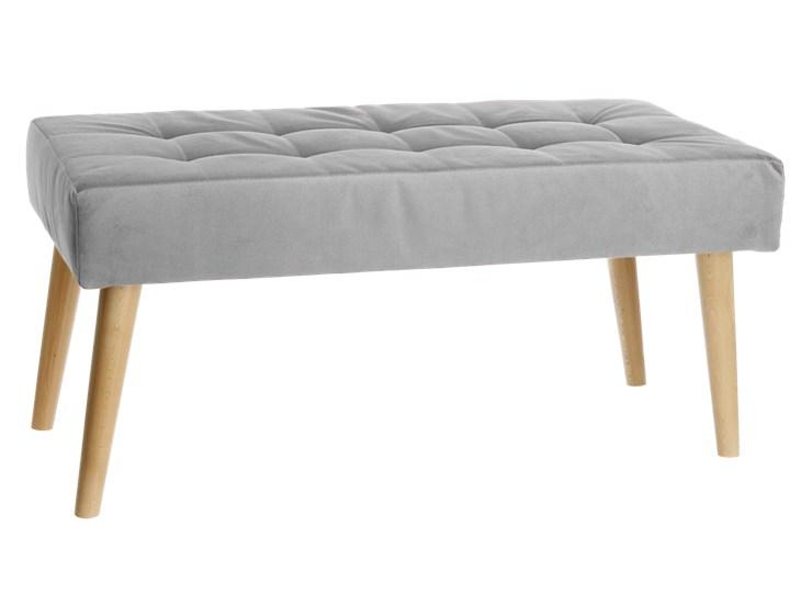 Nowoczesna ławka 45x90cm w kolorze szarym Pikowana Pomieszczenie Przedpokój