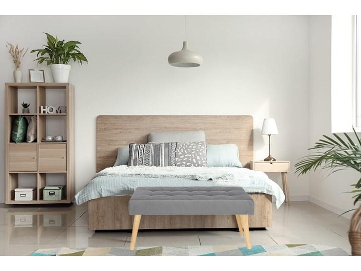 Nowoczesna ławka 45x90cm w kolorze szarym Materiał nóżek Drewno Pikowana Pomieszczenie Salon