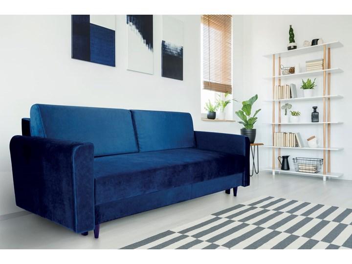 Nowoczesna sofa z funkcją spania ELIZA w kolorze ciemnoniebieskim Szerokość 225 cm Głębokość 55 cm Kategoria Sofy i kanapy Głębokość 97 cm Typ Gładkie