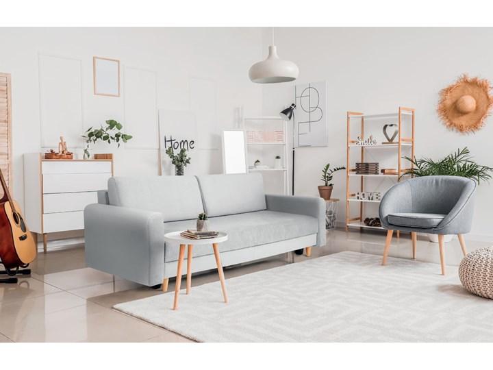 Nowoczesna sofa z funkcją spania ELIZA w kolorze szarym Szerokość 225 cm Głębokość 55 cm Głębokość 97 cm Nóżki Na nóżkach Kategoria Sofy i kanapy