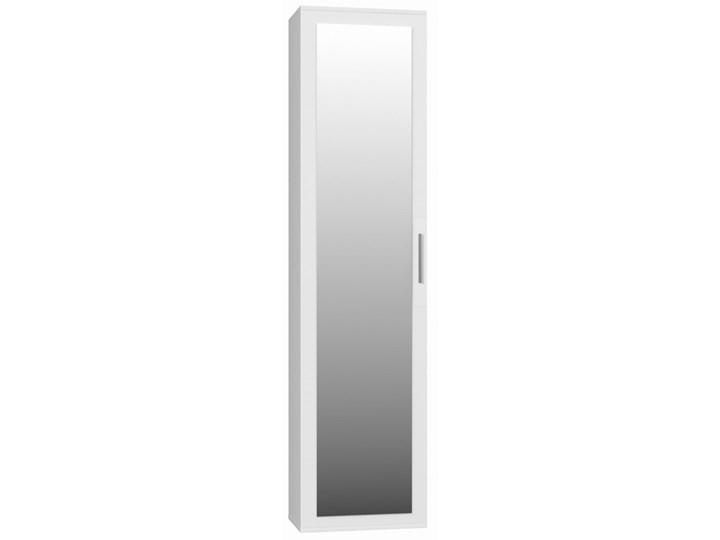 Garderoba szafa, słupek z lustrem biały - Meb24.pl