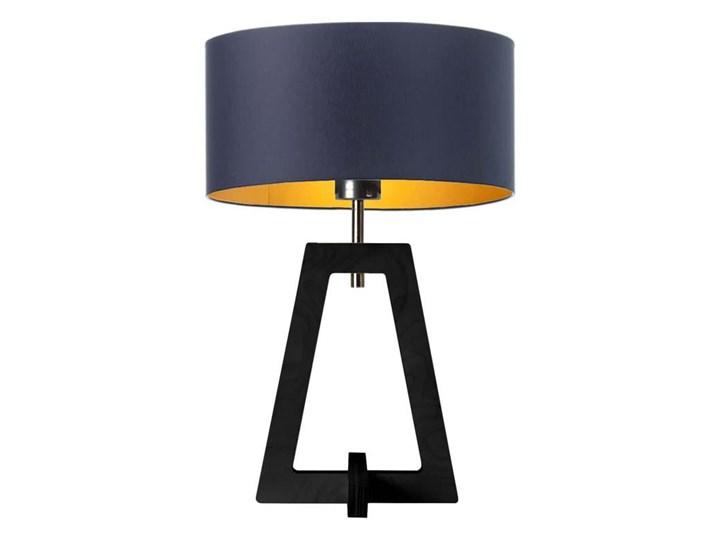 LAMPA NA STOLIK TERIO WALEC GOLDEN Lampa z abażurem Drewno Wysokość 47 cm Pomieszczenie Sypialnia