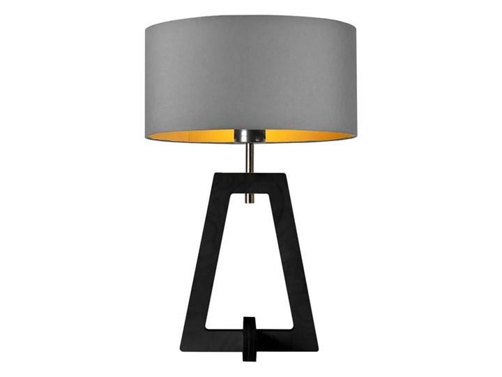 LAMPA NA STOLIK TERIO WALEC GOLDEN Pomieszczenie Salon Drewno Lampa z abażurem Wysokość 47 cm Kategoria Lampy stołowe