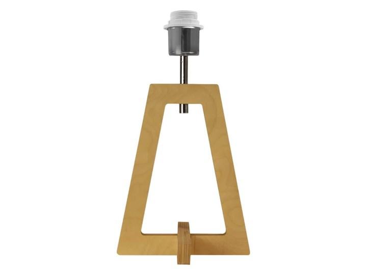 LAMPA NA STOLIK TERIO WALEC GOLDEN Drewno Lampa z abażurem Wysokość 47 cm Pomieszczenie Salon