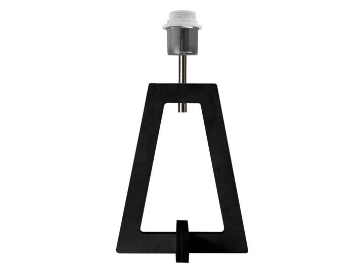 LAMPA NA STOLIK TERIO WALEC GOLDEN Wysokość 47 cm Lampa z abażurem Drewno Styl Nowoczesny