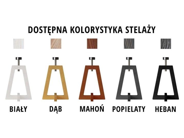 LAMPA NA STOLIK TERIO WALEC GOLDEN Drewno Wysokość 47 cm Pomieszczenie Salon Lampa z abażurem Pomieszczenie Sypialnia