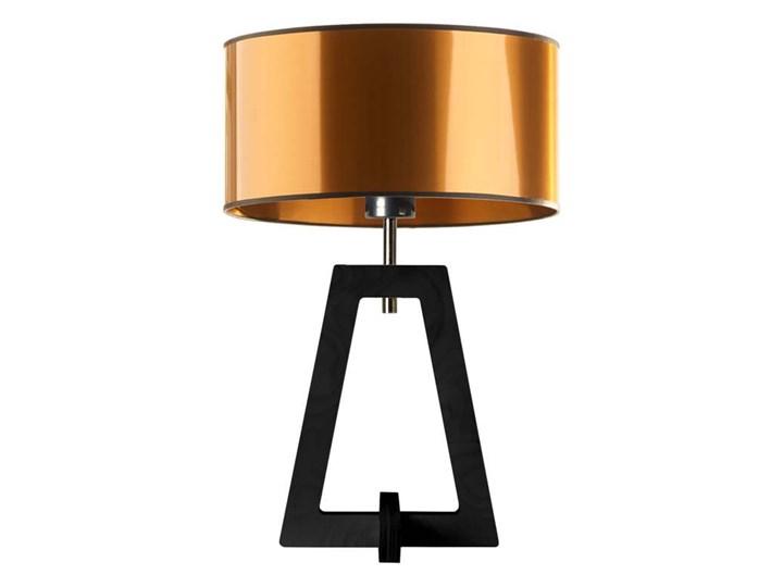 LAMPA NA STOLIK TERIO WALEC BRILL Tworzywo sztuczne Wysokość 47 cm Drewno Lampa z abażurem Pomieszczenie Salon Styl Nowoczesny
