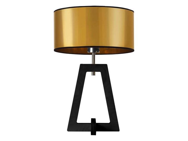LAMPA NA STOLIK TERIO WALEC BRILL Tworzywo sztuczne Styl Nowoczesny Lampa z abażurem Drewno Wysokość 47 cm Pomieszczenie Sypialnia