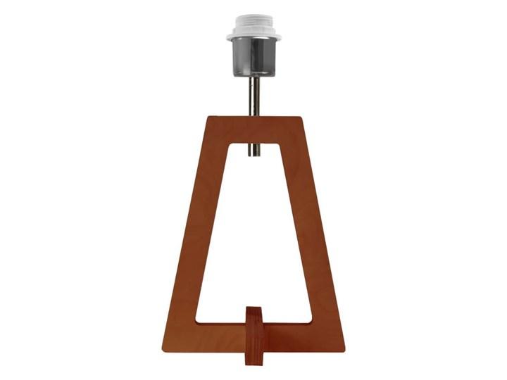 LAMPA NA STOLIK TERIO WALEC BRILL Wysokość 47 cm Lampa z abażurem Drewno Tworzywo sztuczne Styl Nowoczesny