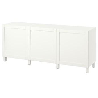 IKEA BESTÅ Kombinacja z drzwiami, Biały/Hanviken/Stubbarp biały, 180x42x74 cm
