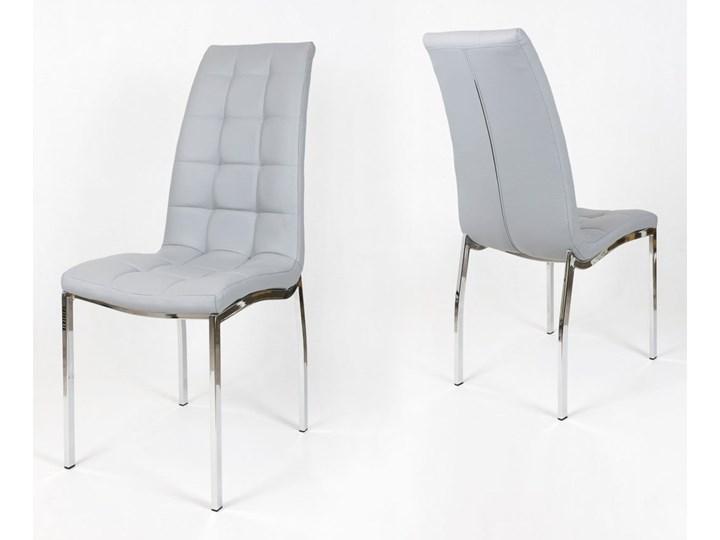 SK DESIGN KS002 Grey Synthetic leather chair with chrome rack Metal Szerokość 41 cm Kolor Szary Wysokość 103 cm Głębokość 45 cm Kategoria Krzesła kuchenne