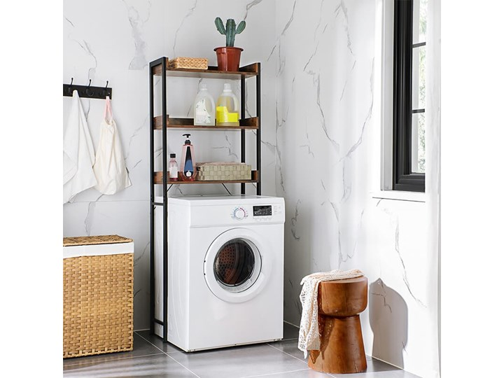 Bettso Wysoki regał nad pralkę w stylu industrialnym Kategoria Witryny