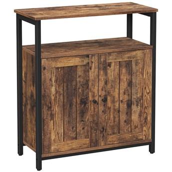 Bettso Elegancka komoda w stylu industrialnym z półką  / Rustic brown