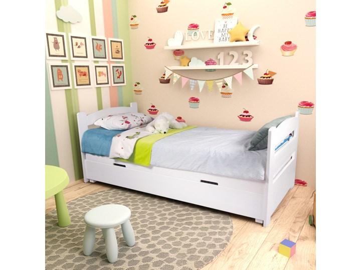 Łóżko Maja z pojemnikiem 90x200 Tradycyjne Drewno Rozmiar materaca 90x200 cm