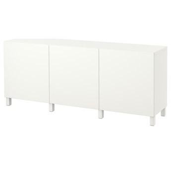 IKEA BESTÅ Kombinacja z drzwiami, Biały/Lappviken/Stubbarp biały, 180x42x74 cm
