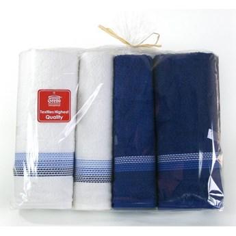 Komplet 4 ręczników na prezent Ombre Granatowy